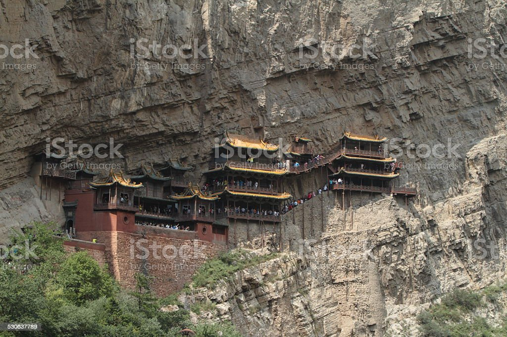 Das Hängende Kloster Xuankong Si bei Datong in China stock photo