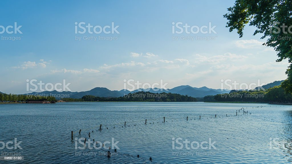 The HangZhou West Lake stock photo