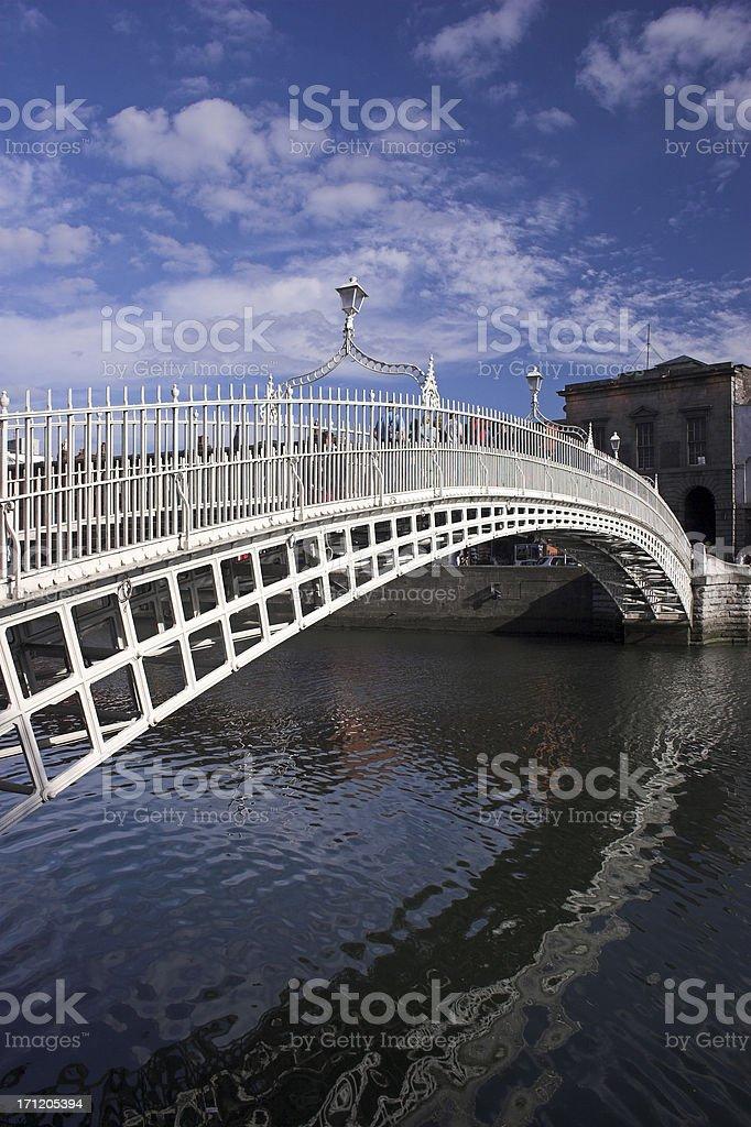 The Ha'penny Bridge Dublin royalty-free stock photo