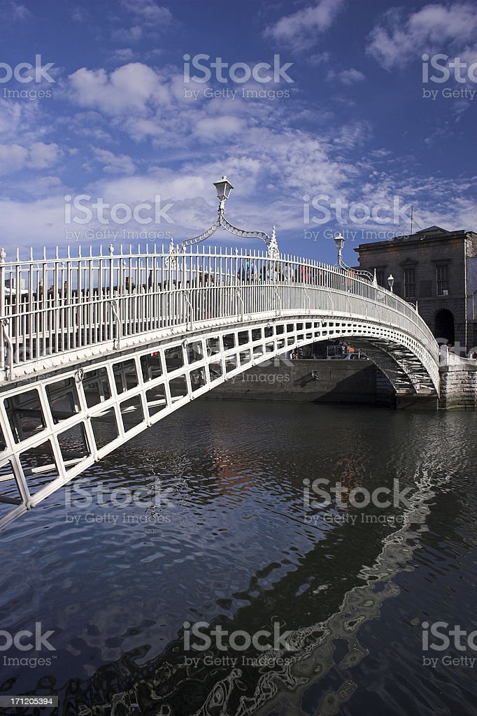 The Ha'penny Bridge Dublin stock photo