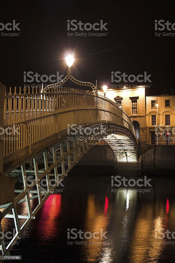 The Ha'penny Bridge Dublin royalty-free stock photo