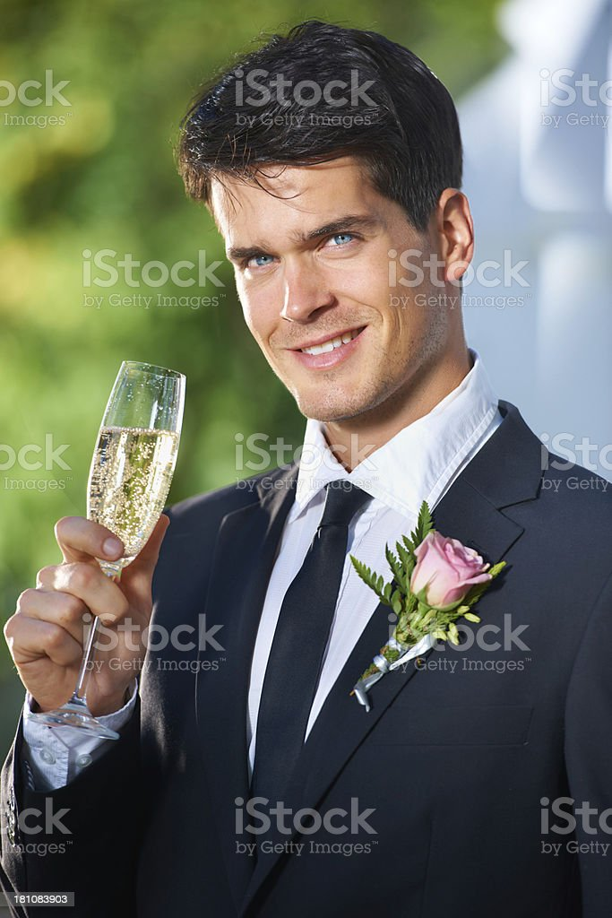 The happiest day of his life royalty-free stock photo