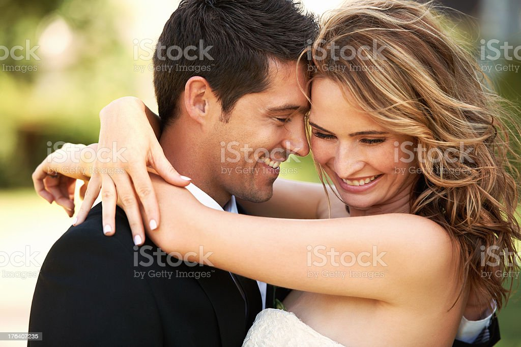 The happiest day of our lives stock photo
