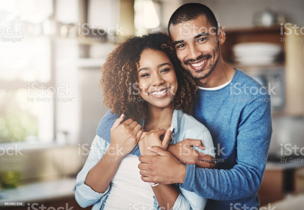 The happiest hearts make the happiest homes stock photo