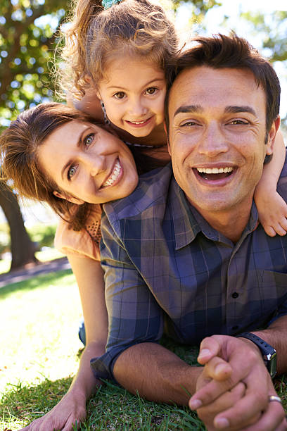 The happiest of families stock photo