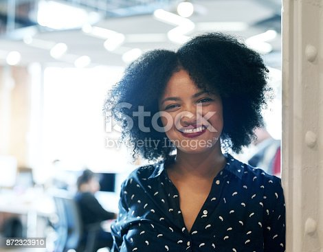 590241864istockphoto The happiest when she's at work 872323910