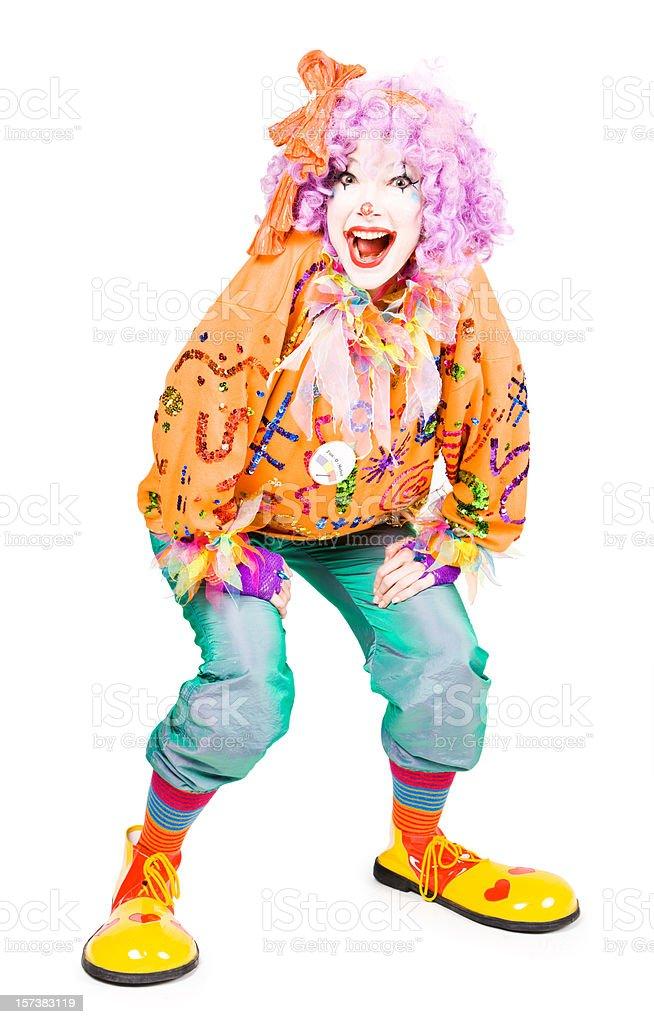 The happy clown royalty-free stock photo