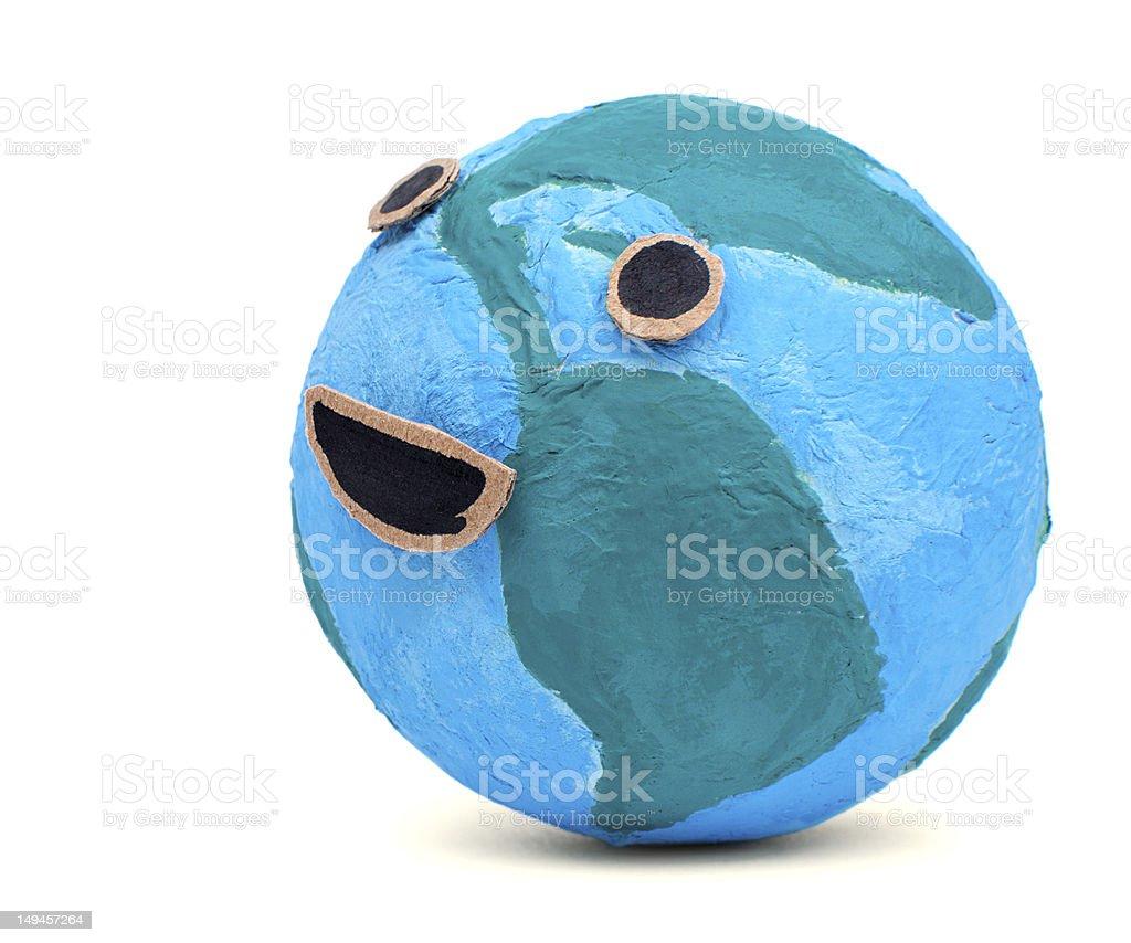 The happy earth royalty-free stock photo