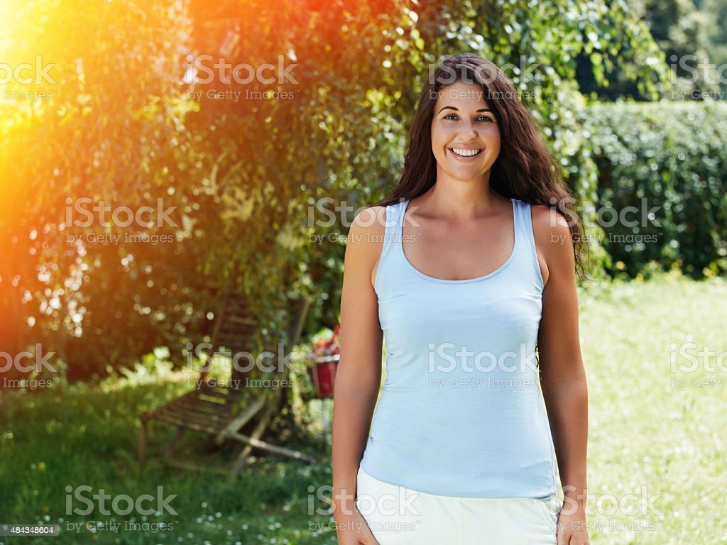The Happy Garden Girl Stock Photo & More Pictures of 20-24 Years ...