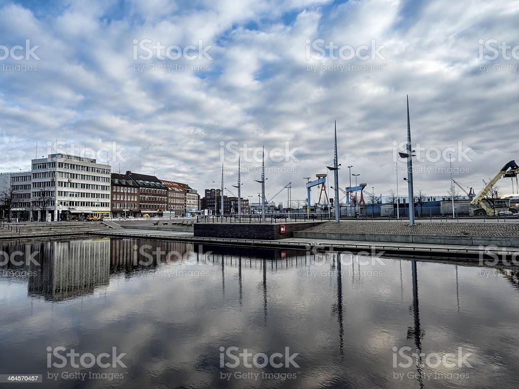 The harbor in Kiel, Germany stock photo