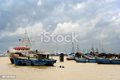 The harbor of Paramaribo, Capital of Suriname