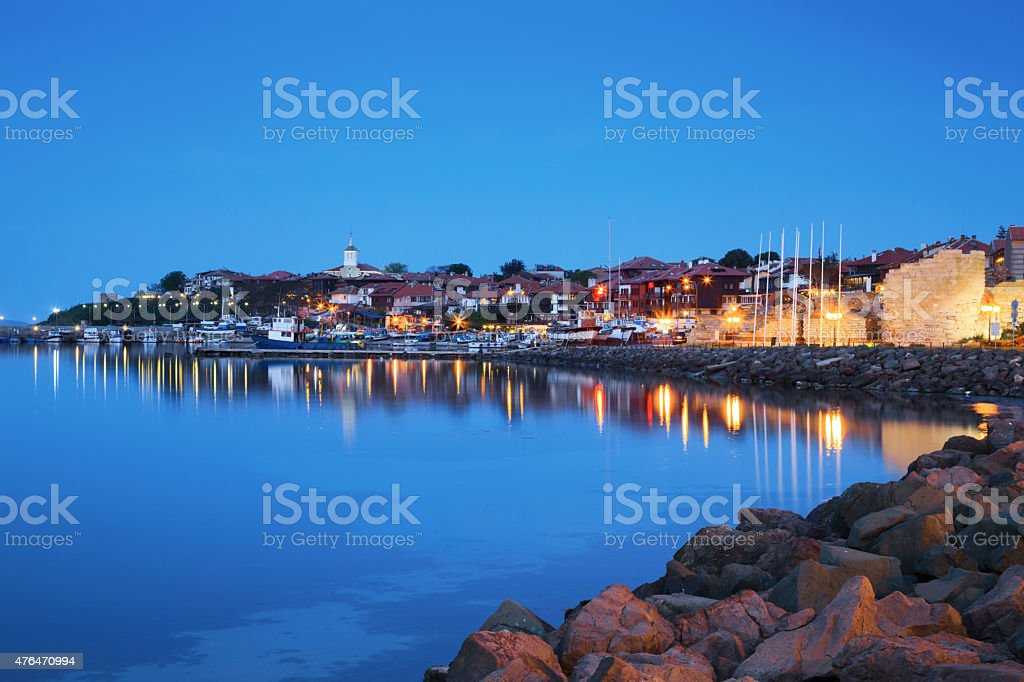 The Harbor Of The Old Town Of Nessebar Bulgaria Stock Photo