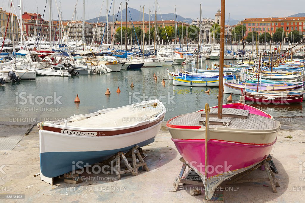 The Harbour at Nice royalty-free stock photo