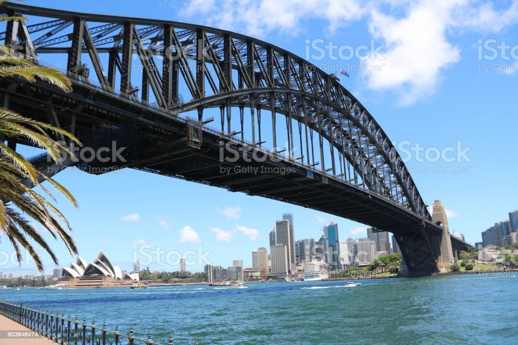 The Harbour Bridge in Sydney, New South Wales Australia stock photo