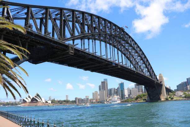 시드니, 뉴 사우스 웨일즈 호주 하버 브리지 - 태즈먼 해 뉴스 사진 이미지