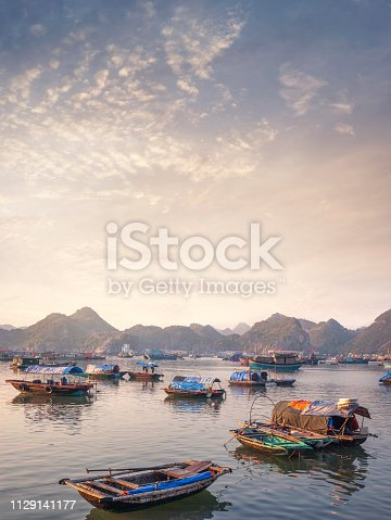 The Harbour On Cat Ba Island In Halong Bay, Vietnam
