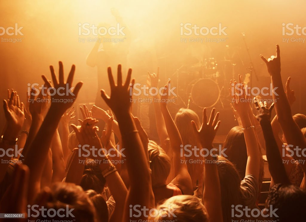 Die hard fans stock photo