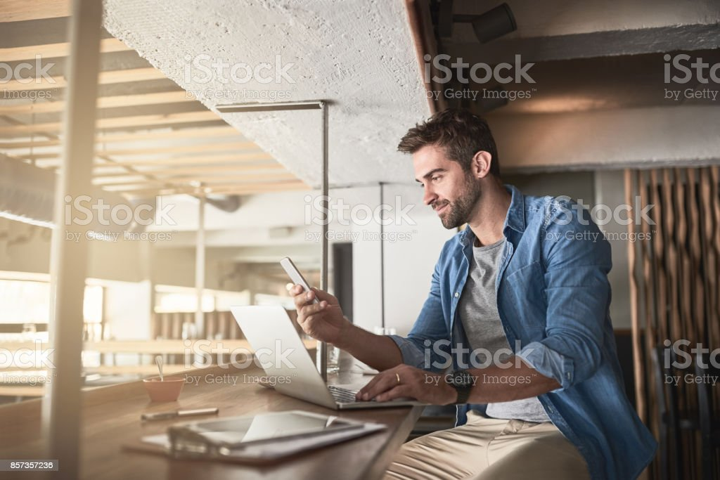 The hard work that goes into running a cafe stock photo