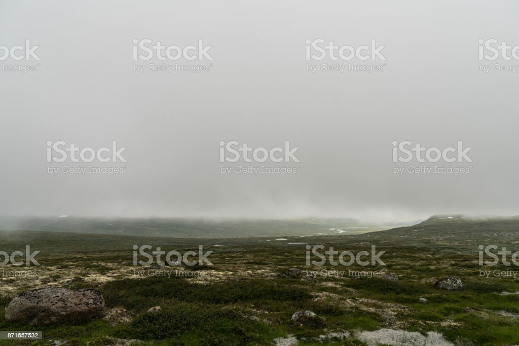 The Hardangervidda Mountain Area in Norway stock photo