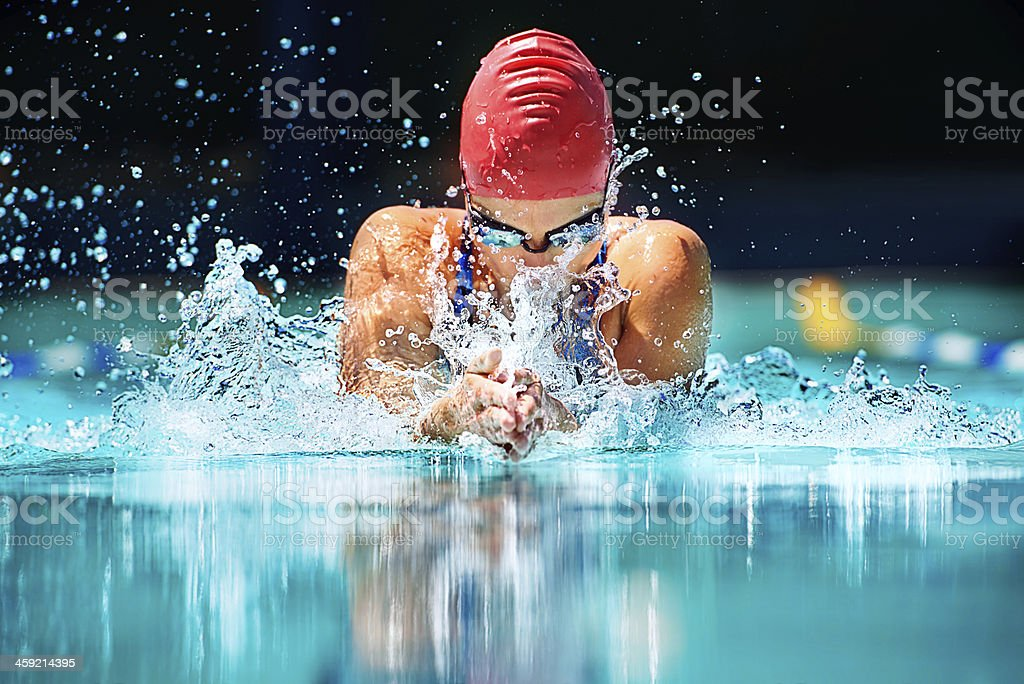 The hardest stroke in swimming... stock photo