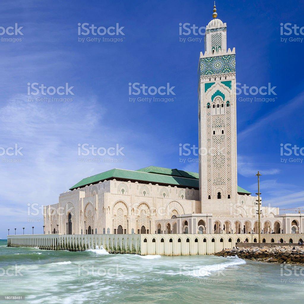 The Hassan II Mosque in Casablanca, Morocco stock photo