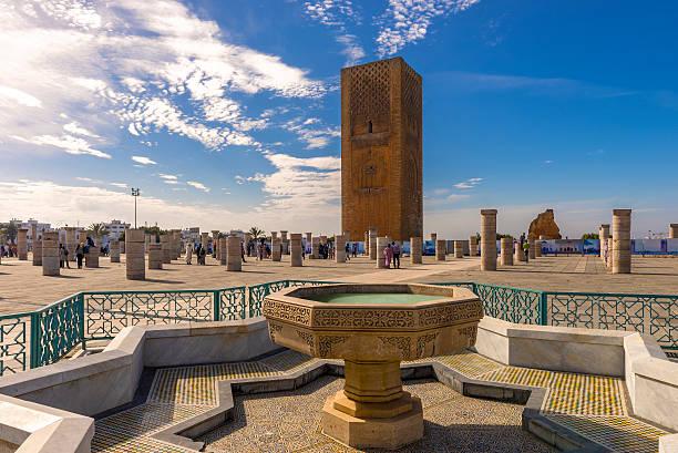 the hassan tower in rabat, morocco - rabat marocko bildbanksfoton och bilder