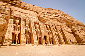 The Hathor Temple of Queen Nefertari at Abu Simbel in Egypt