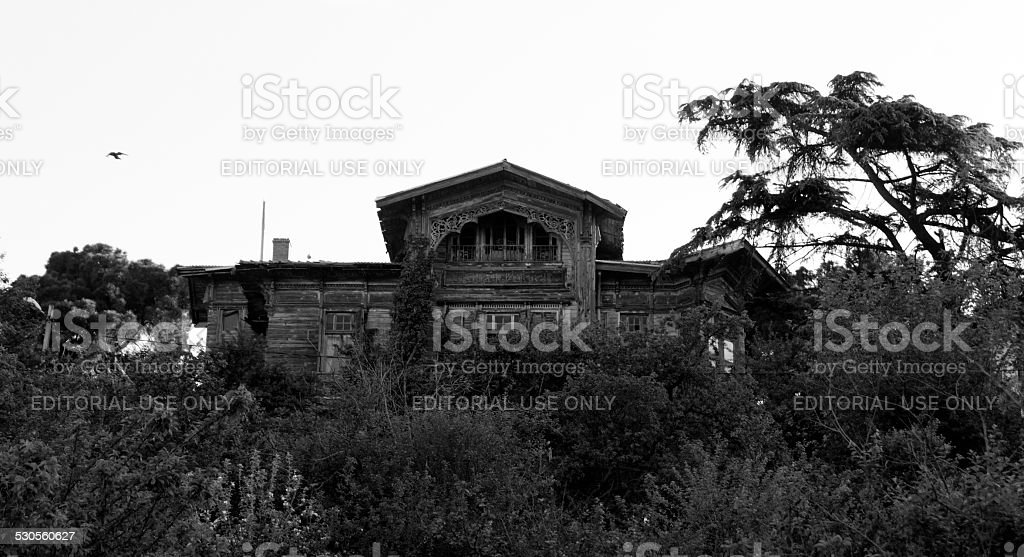 The Haunted House on the Hill stock photo