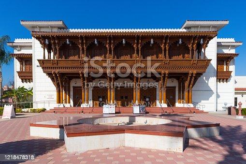istock The Haveli Building (Visitor's Center) of the BAPS Shri Swaminarayan Mandir in Chino Hills 1218478318