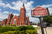 istock The Hay Street United Methodist Church in downtown Fayetteville, North Carolina 696988800