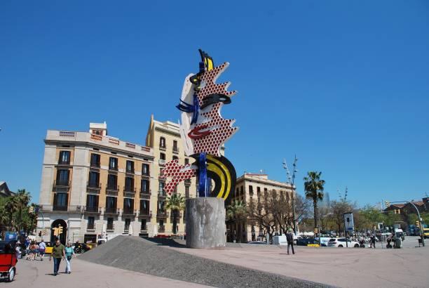 The Head of Barcelona, Catalonia stock photo