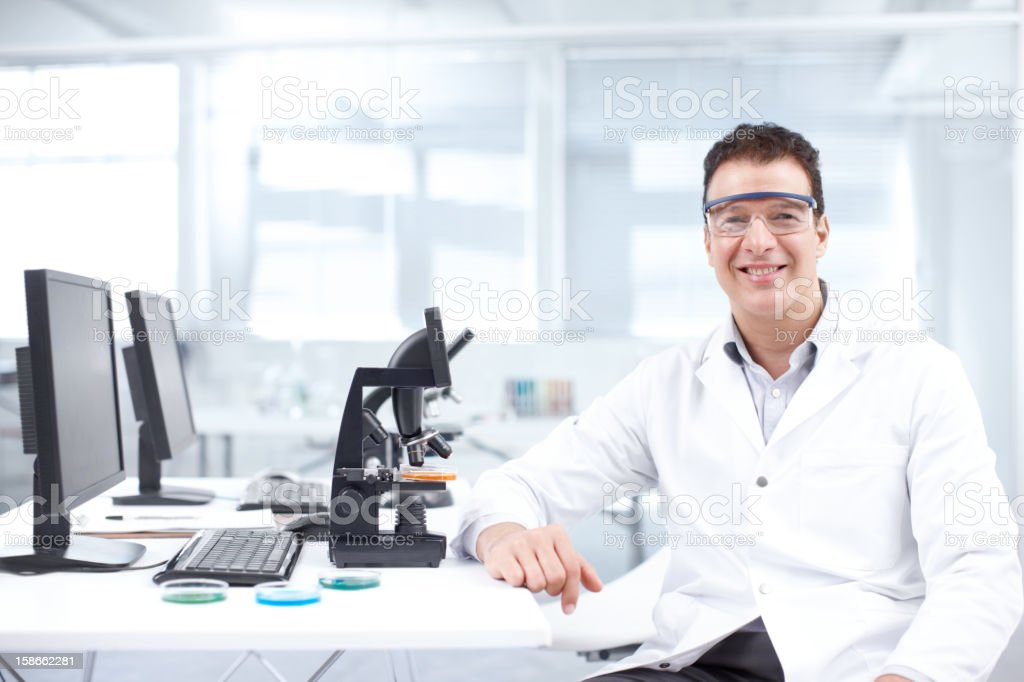 The head of research stock photo
