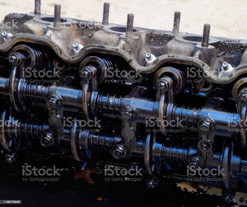 The head of the block of cylinders. The head of the block of...