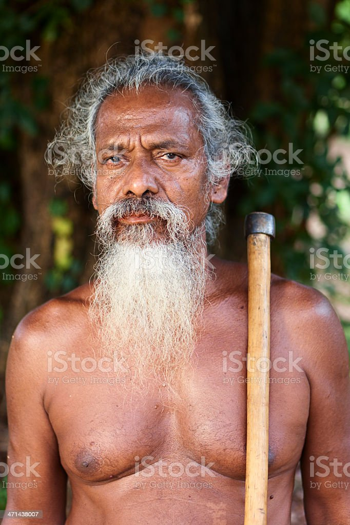 The head of Veddah tribe, Sri Lanka royalty-free stock photo