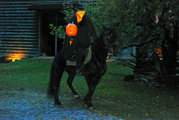 無頭騎手再次騎馬 - 被砍頭 個照片及圖片檔