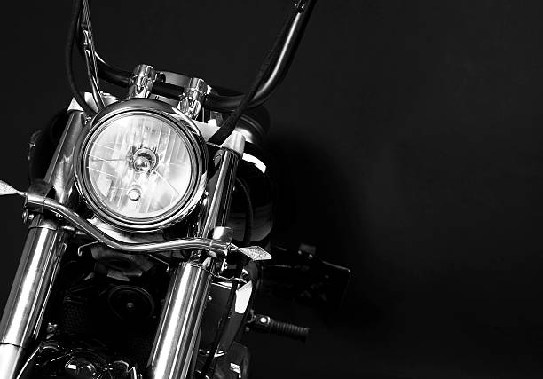 the headlights of a motorcycle - motorcycle stock photos and pictures