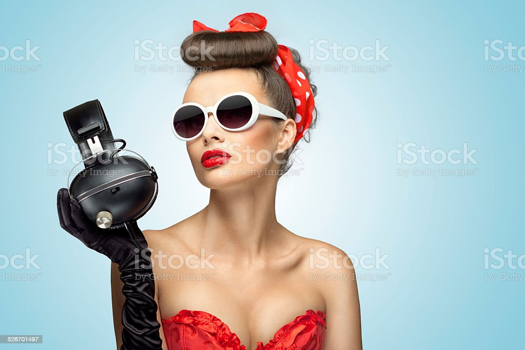 The headphones fashion. stock photo
