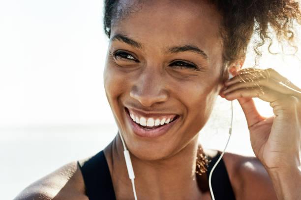 The healthier I am the happier I feel stock photo