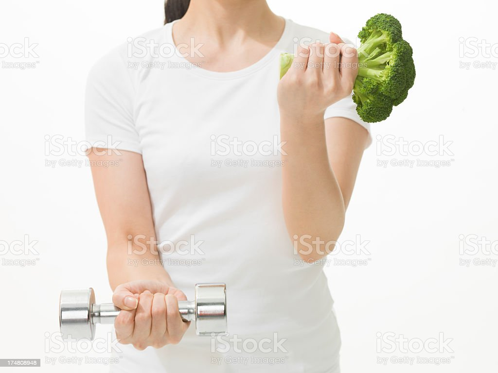 The healthy diet and fitness. stock photo