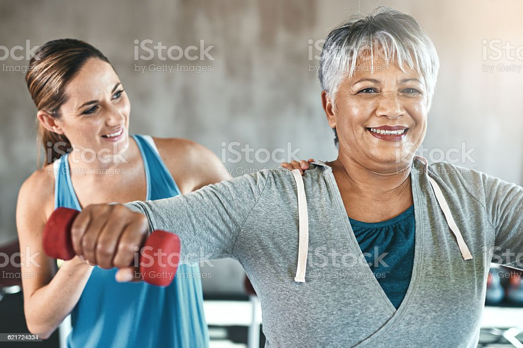 The healthy heart is a youthful heart stock photo