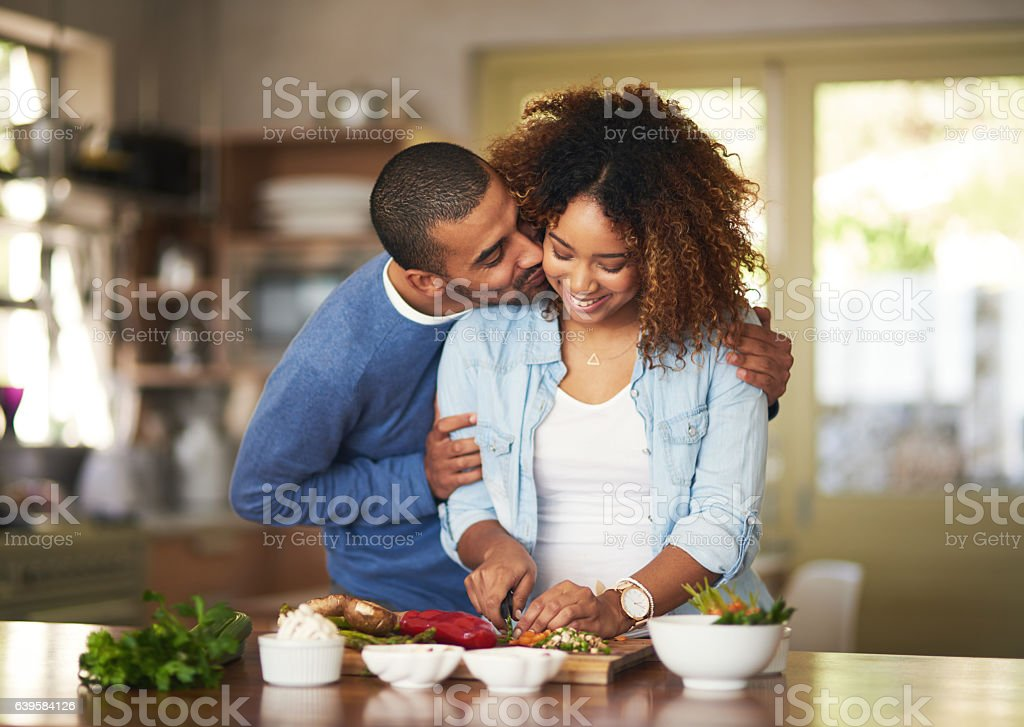 The healthy marriage is a happy marriage stock photo