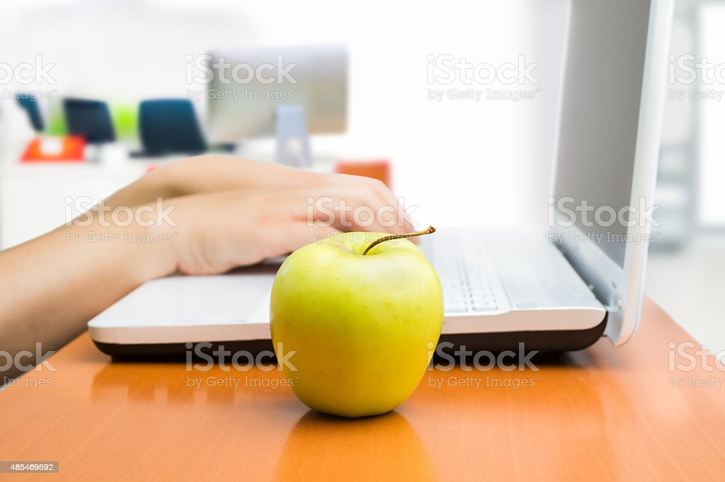 the healthy snack at the office stock photo