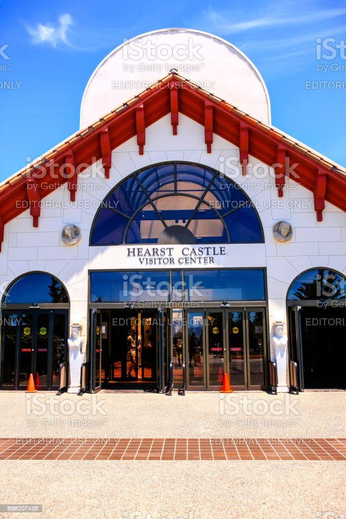 The Hearst Castle Visitor Center near San Simeon in California, USA stock photo