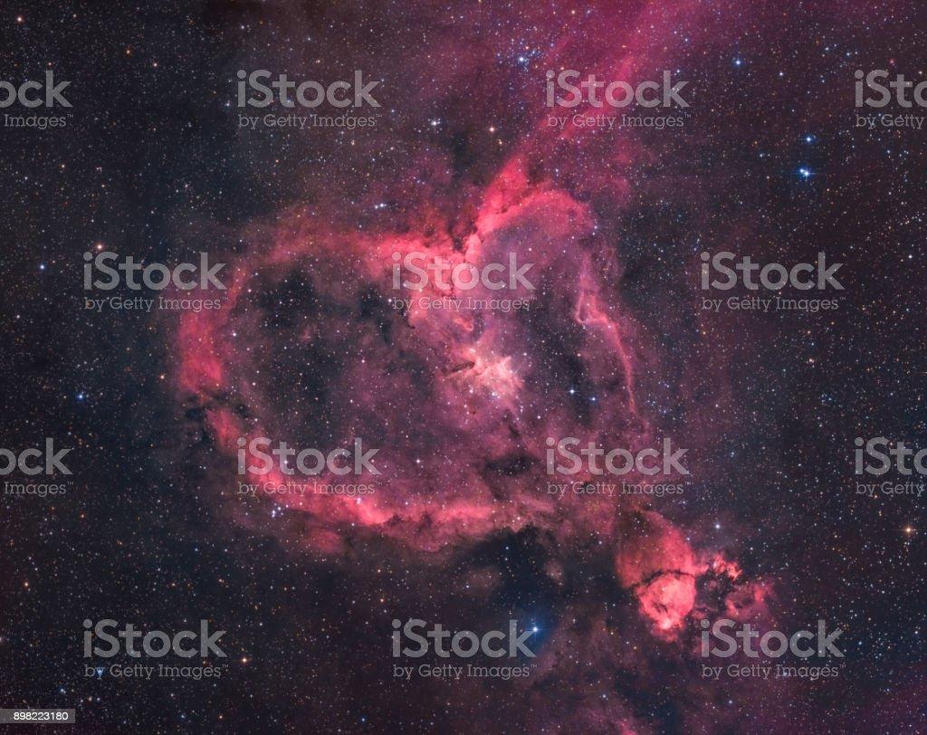 Der Herz-Nebel im Sternbild Cassiopeia – Foto