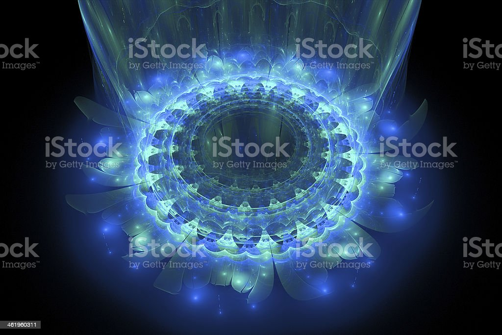The heart of blue mandala stock photo