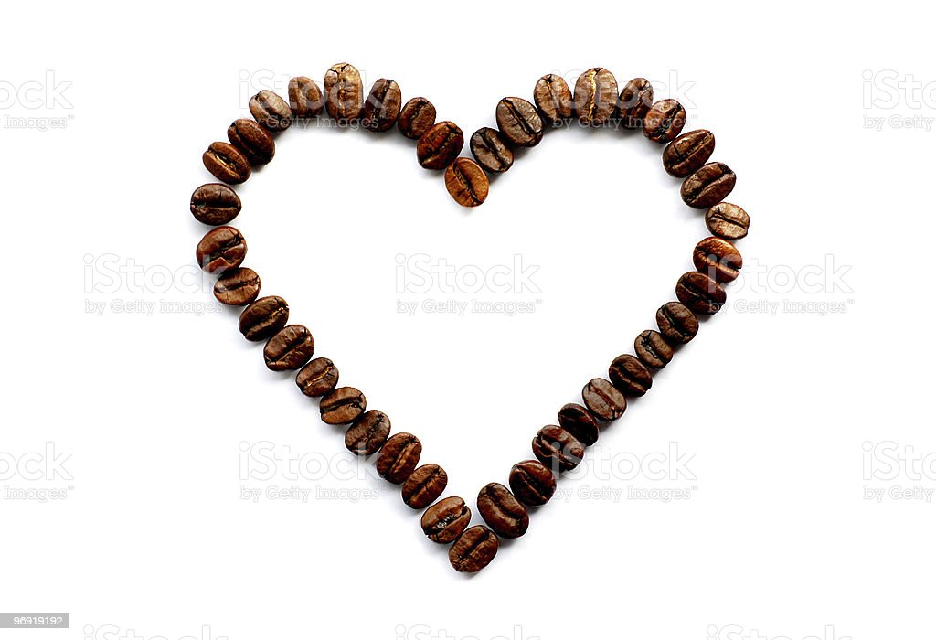 The heart of coffee royalty-free stock photo