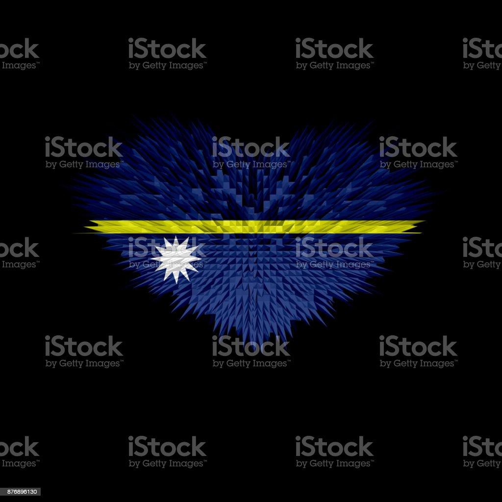 The Heart of Nauru Flag abstract background. stock photo