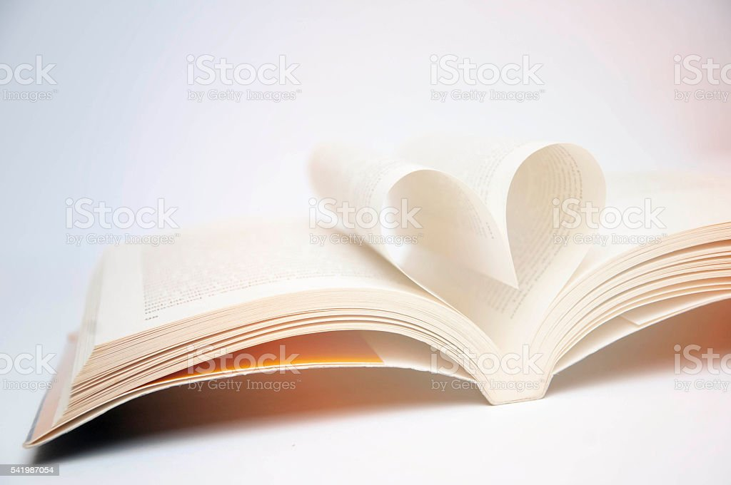 The heart of the sheets. stock photo