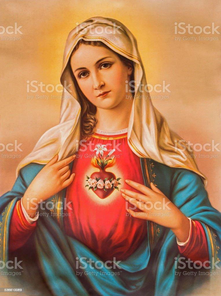 Le cœur de la vierge Marie typiques catholique-image - Photo
