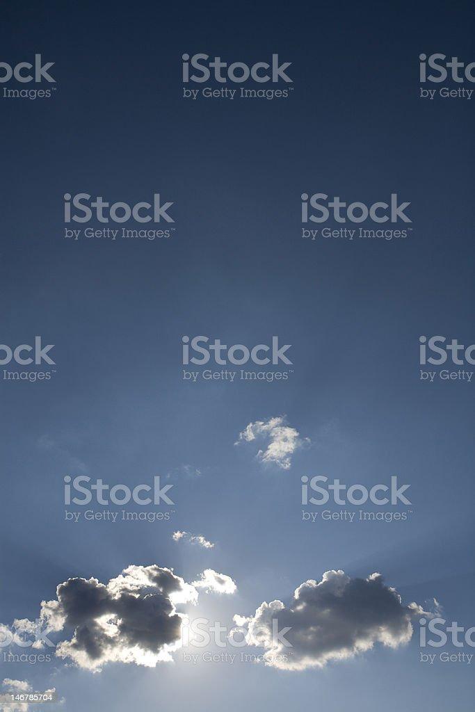 The Heavens Breaking Open stock photo